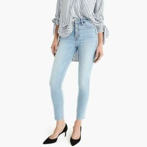 "J.Crew 9"" highrise toothpick jean with button fly"